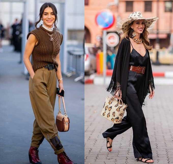 Модные образы 2019-2020 с массивной цепью