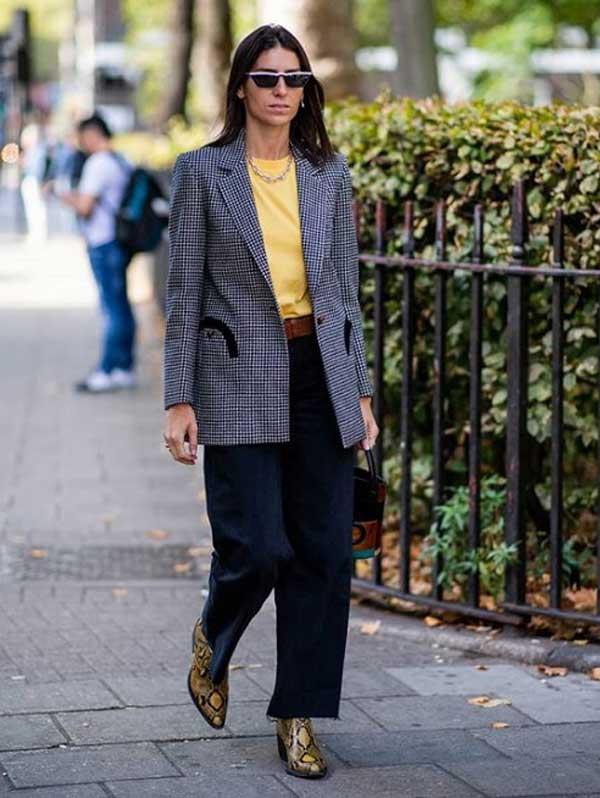 Streetstyle модницы с массивной цепью