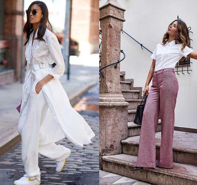Модные брюки клеш - образы