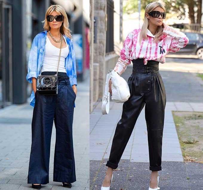 Более 40 стильных образов с модными брюками