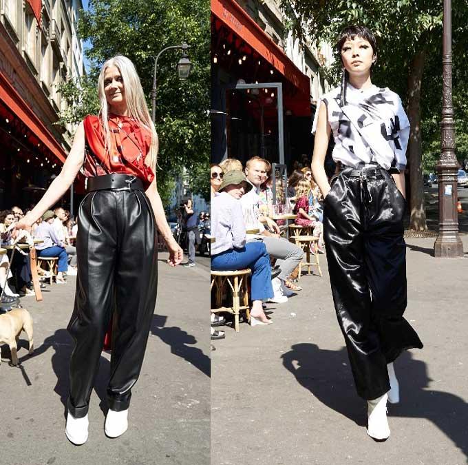 Модные кожаные брюки 2019-2020 фото