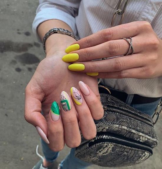 Модный дизайн ногтей средней длины