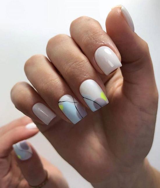 Дизайн ногтей с акварельными красками