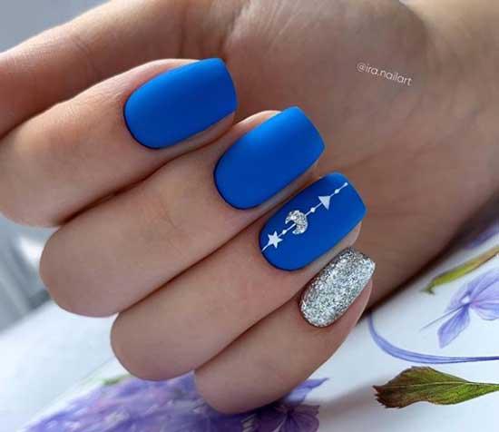 Синий маникюр и нейл-арт