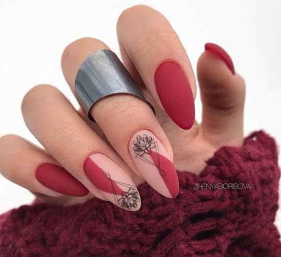 Минимализм нейл-арт на ногтях