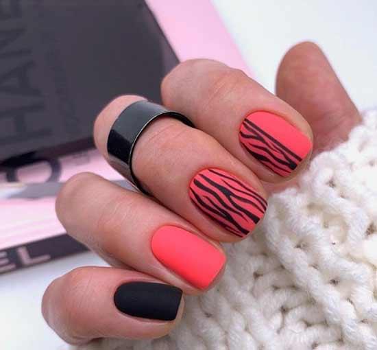 Легкий узор выполненный на ногтях