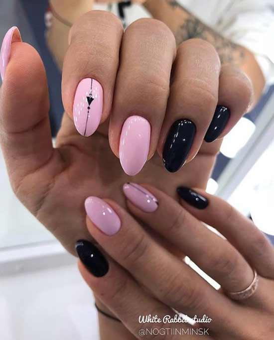 Простой дизайн ногтей в стиле минимализм