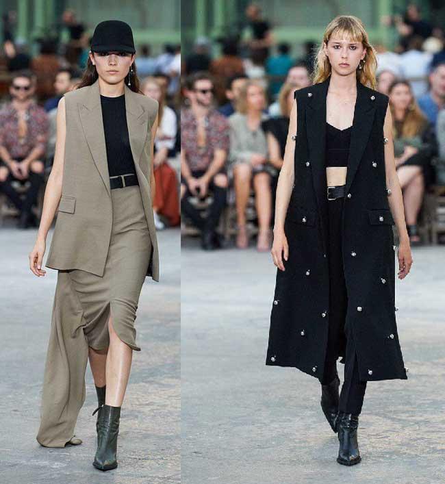 С чем носить удлиненные жилеты и средней длины