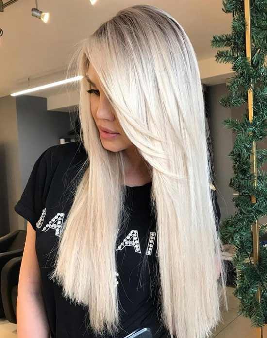 Длинные светлые волосы стрижка