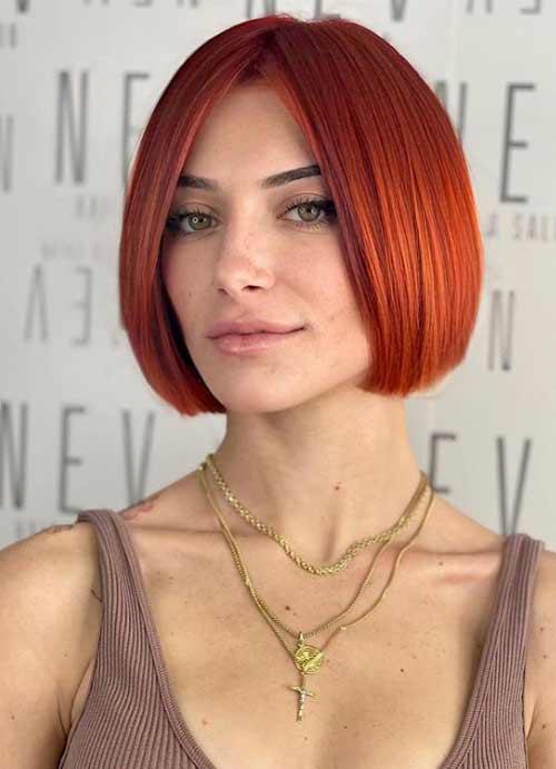 Модная стрижка рыжие волосы
