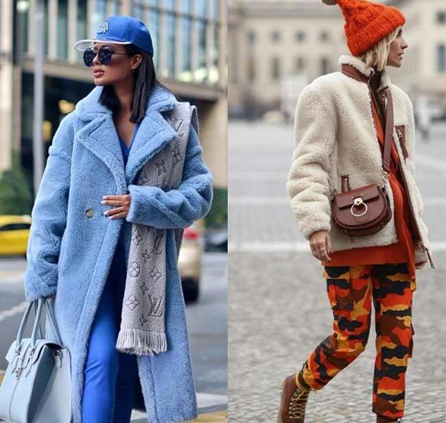 Кепи и шапка с шубой, модные образы
