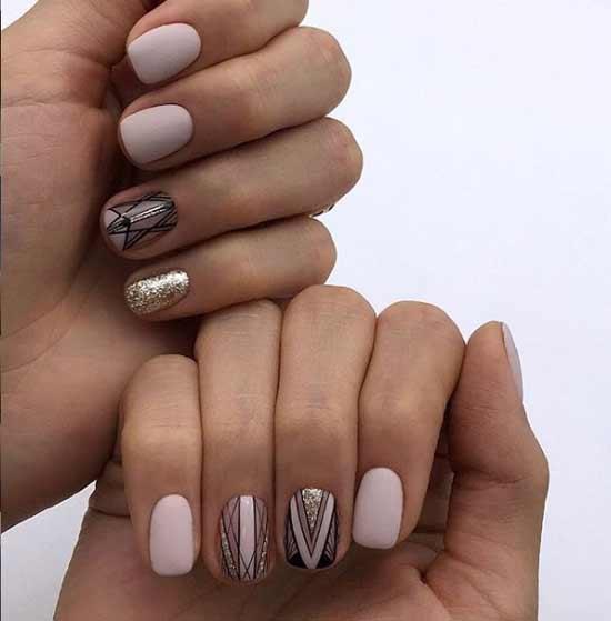 Асимметричный дизайн ногтей