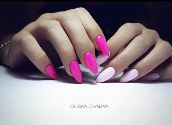 Разный цвет ногтей на руках