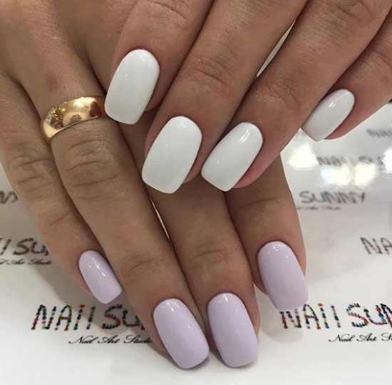 Белый с лиловым дизайн
