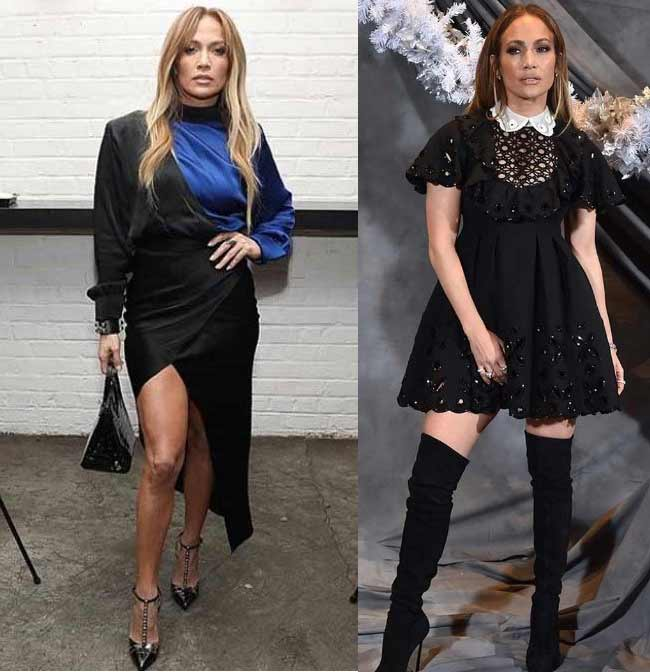 Дженнифер в черных платьях 2019