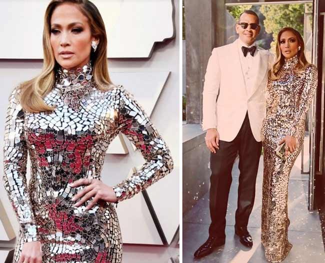Дженнифер Лопес в платье на Оскаре 2019