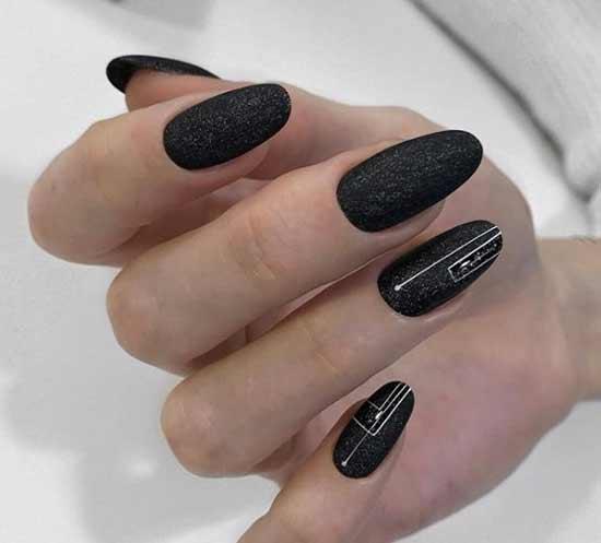 Дизайн ночной салют на ногтях