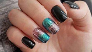 Модный черный маникюр на короткие ногти, тенденции, фото