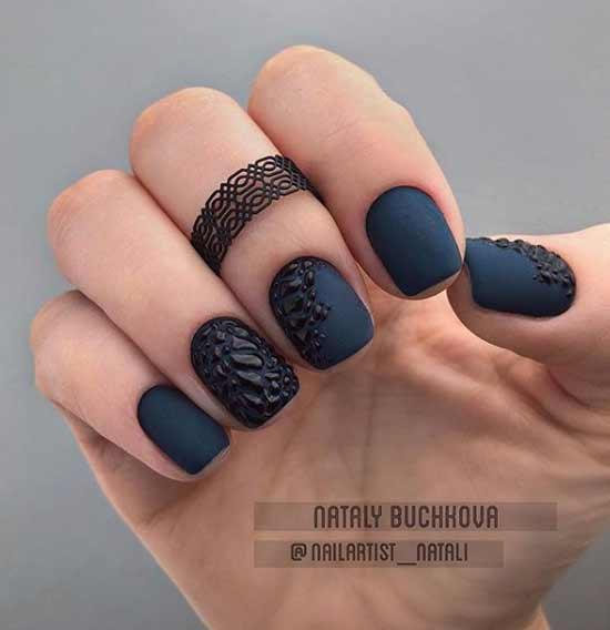 Маникюр с черным змеиным принтом фото короткие ногти