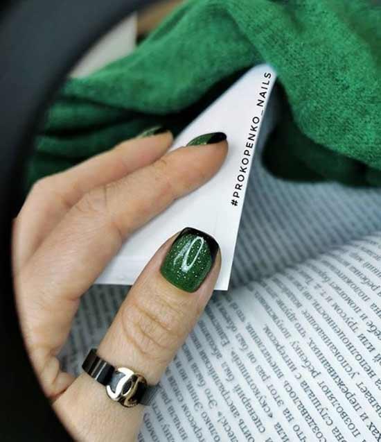 Черно-зеленый френч