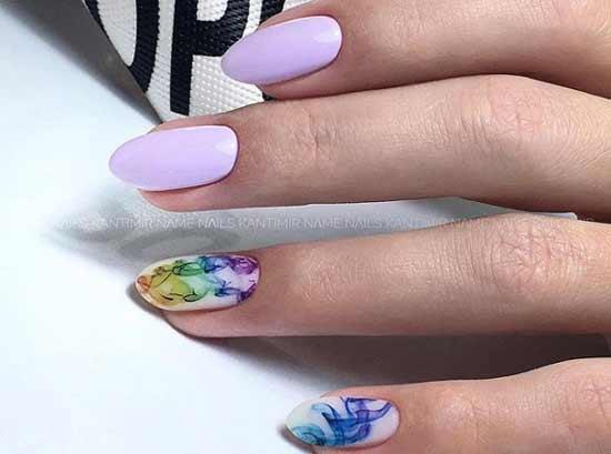 Аква-капли на ногтях