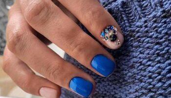 Синий маникюр 2020: модный дизайн ногтей, фото-новинки