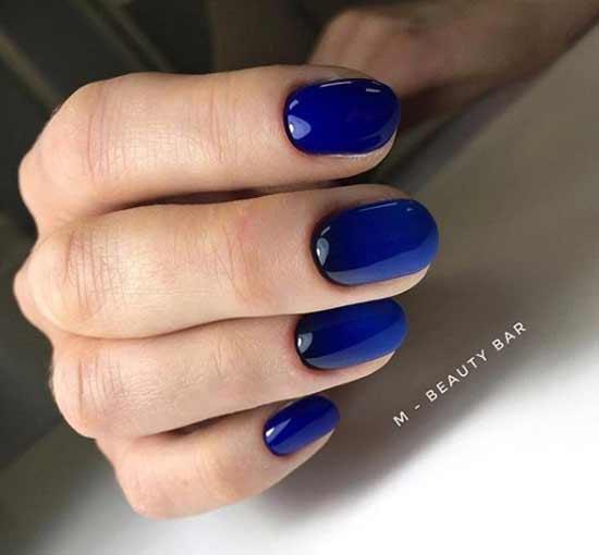 Синий дизайн омбре