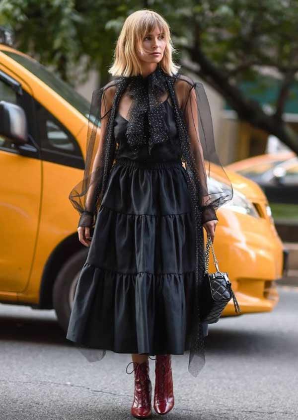 Полупрозрачное платье - тренд 2020