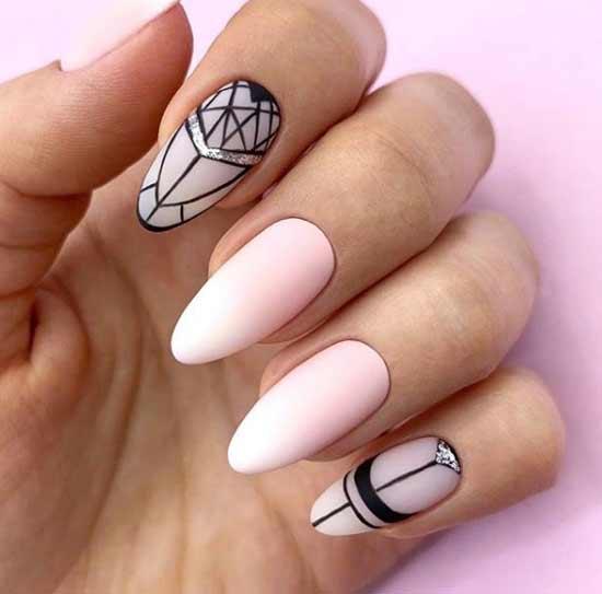 Сложная графика на ногтях