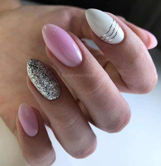 Геометрия дизайн ногтей гибкими лентами