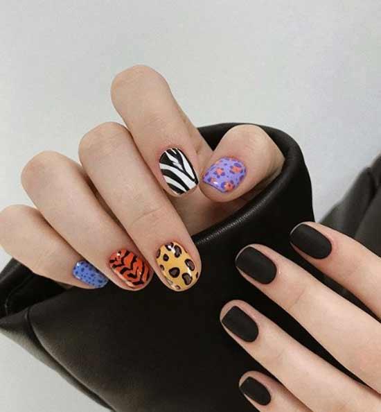 Матовая геометрия на ногтях