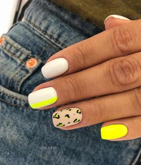 Полосатая геометрия на ногтях