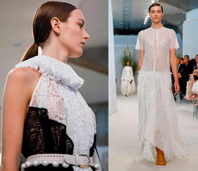 Модные кружевные платья фото