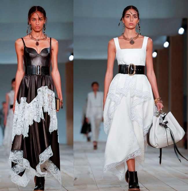 Модные сарафаны с кружевом