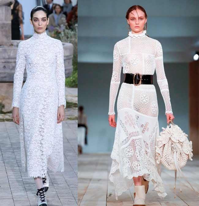 Дизайнерские платья из кружева
