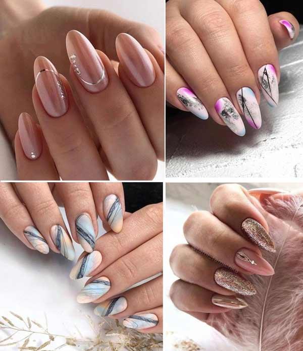 Нежный маникюр длинные ногти