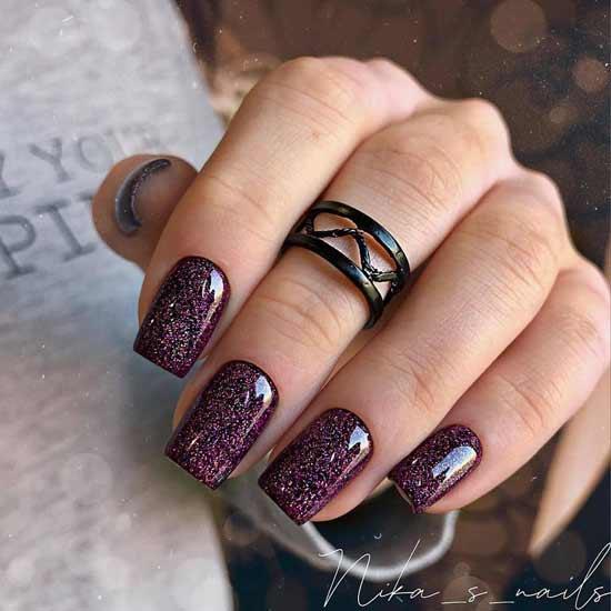 Роскошный маникюр на средней длине ногтей фото