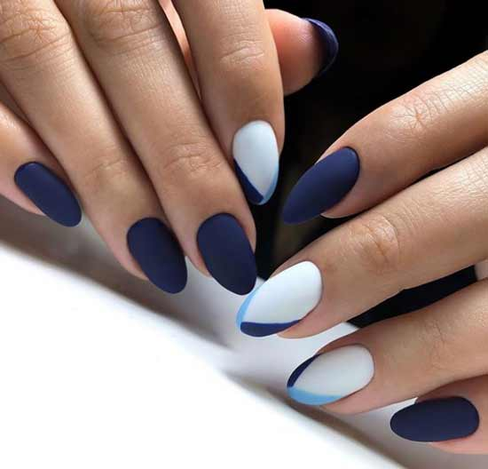 Темно-синий матовый френч