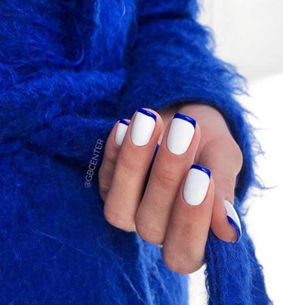 Бело-синий френч