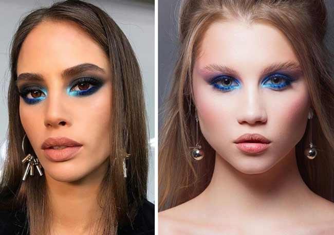 Модный синий макияж 2020 фото