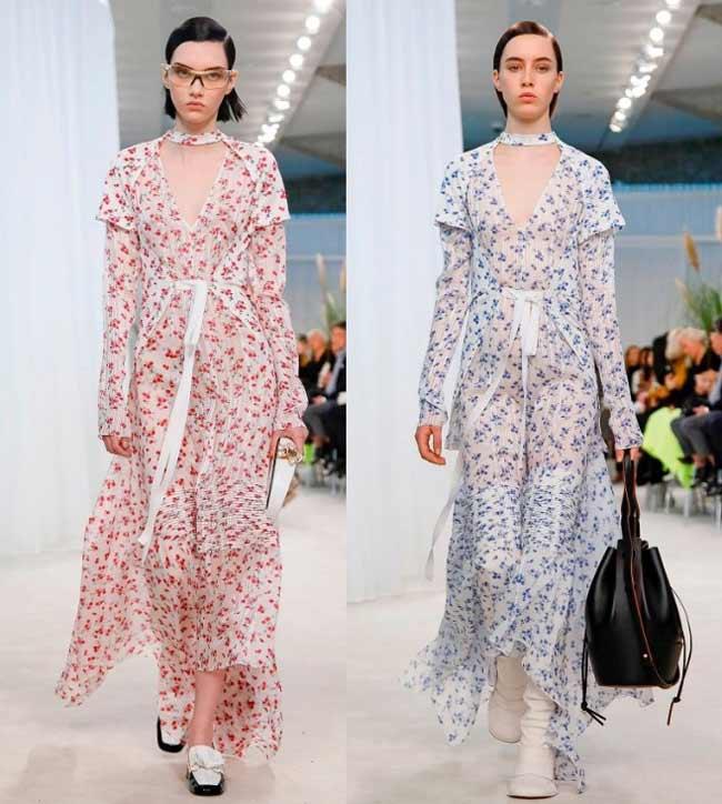 Тренд на платья макси в цветочек