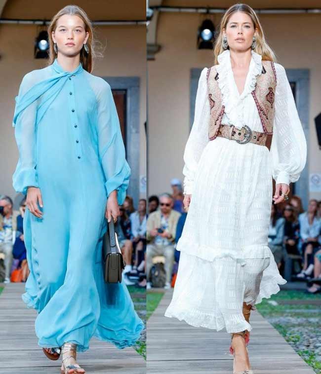 Мода на длинные платья сарафаны и юбки