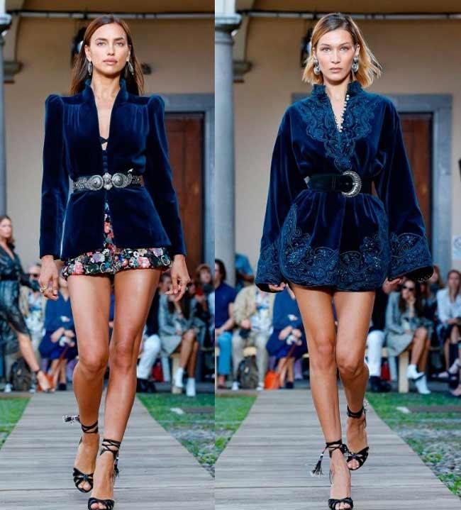 Синий бархат - мода 2020