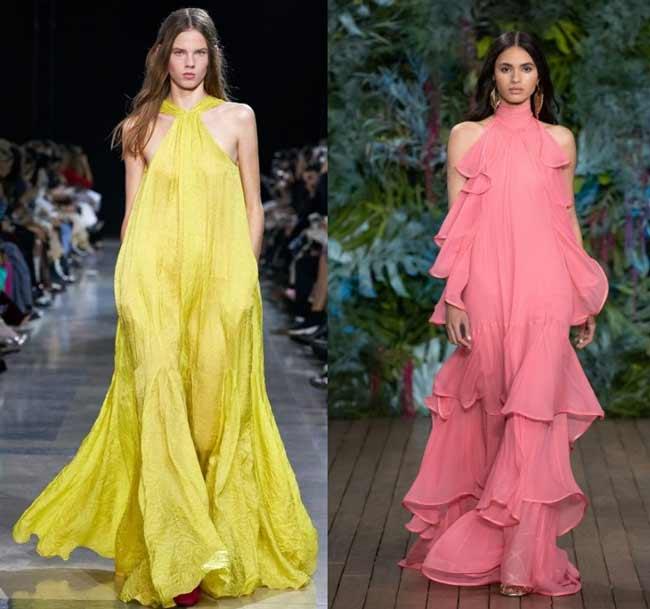 Длинные модные летние платья 2020