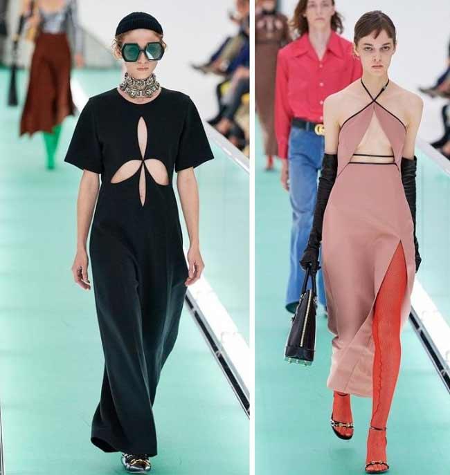 Gucci, Фигурные вырезы на одежде