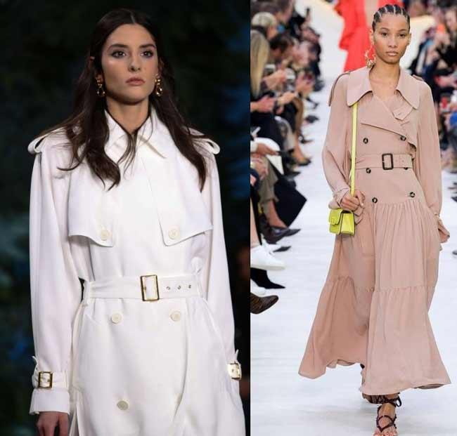 Модное тренч-платье