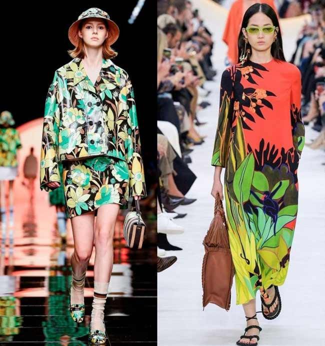 Модные тропические принты в одежде весна лето