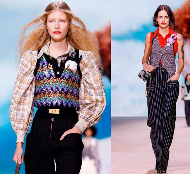 Модные жилеты с пайетками образы