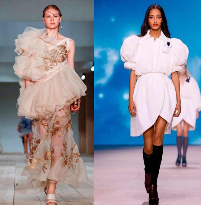 Тренд 2020 на объемные рукава, пышные платья и юбки 2-