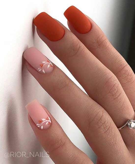 Матовый весенний дизайн ногтей